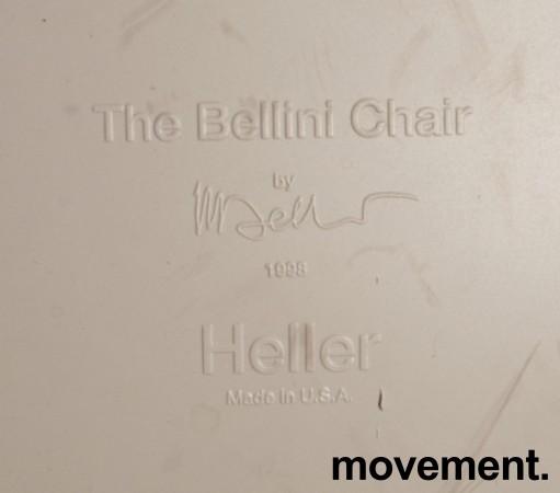 The Bellini Chair fra Heller, USA i lysegrått, Design: Mario Bellini, fin både inne og ute, pent brukt bilde 4