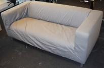 IKEA Klippan 2-seter sofa med grått trekk, 180cm bredde, pent brukt