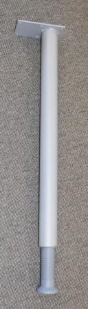 Grålakkert bordben i metall til skrivebord, justerbar høyde, 66-78cm, pent brukt bilde 1