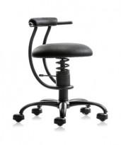 Ergonomisk, ryggvennlig kontorstol fra Spinalis, modell Smart med Renna trekk i sort, pent brukt