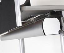 Kabeloppheng / kabelbrønn under pult, Turn 115S, bredde 115cm, pent brukt