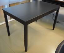 IKEA Lerhamn spisebord / møtebord i brunsort, 118x74cm, pent brukt