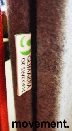 Bordskillevegg i mørkegrått stoff fra Gliakra, modell Nimbus, 180x64cm, pent brukt bilde 2