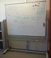 Nobø mobilt whiteboard på hjul, 2sidig, 150x120cm whiteboard, pent brukt