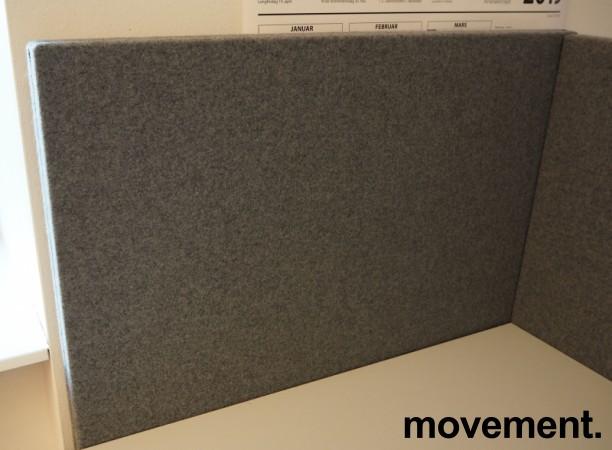 Bordskillevegg i mørkegrått stoff fra Gliakra, modell Nimbus, 80x64cm, pent brukt bilde 1