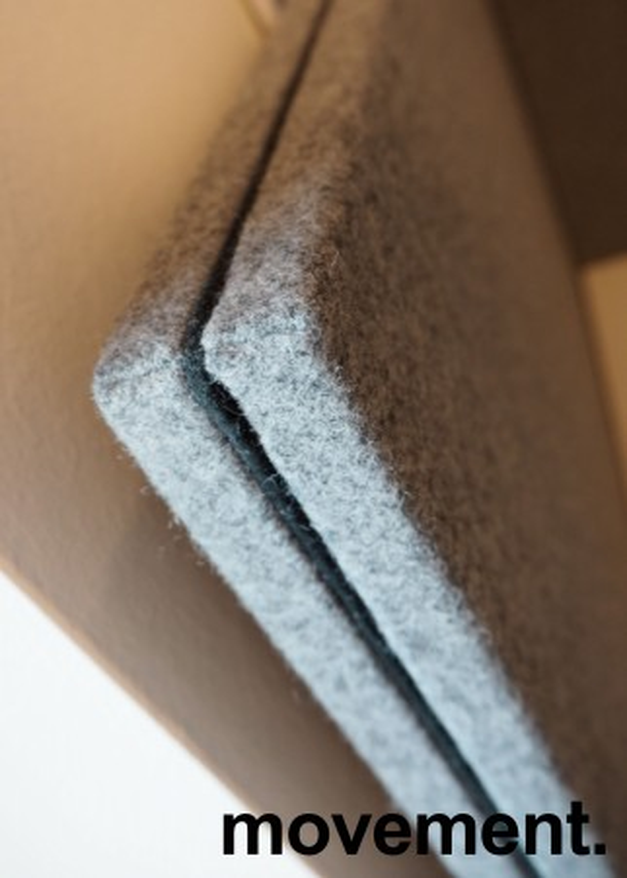 Bordskillevegg i mørkegrått stoff fra Gliakra, modell Nimbus, 80x64cm, pent brukt bilde 2