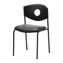 Stablestol fra Ikea, modell Stoljan, sort farge, sete i kunstskinn, pent brukt