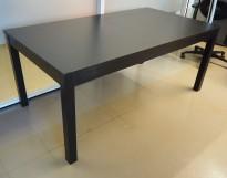 IKEA Bjursta møtebord / spisebord med ileggsplater, brunsort, 175x95cm, pent brukt