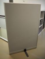 Skillevegg fra Kinnarps, modell Rezon i grått / alu ramme, 100cm bredde, 150cm høyde, pent brukt