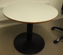Loungebord i lys grå / sort, Ø=70cm, høyde 61cm, pent brukt