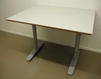 Skrivebord / kompakt møtebord i lys grå / grå, 100x80cm, pent brukt
