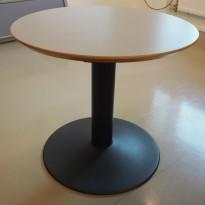 Loungebord i grå / sort, Ø=70cm, høyde 64cm, pent brukt