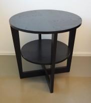 Loungebord / sofabord i brunsort fra IKEA, Vejmon Ø=60cm, pent brukt