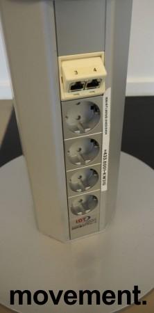 IDT Grenstaver for kontor med 4xnettverk og 8xstrøm, tosidig, pent brukt bilde 2