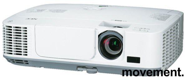 NEC Prosjektor M300W, 3000Lumen, HDMI, Widescreen 1280x800, 1072timer på pæren, pent brukt bilde 1