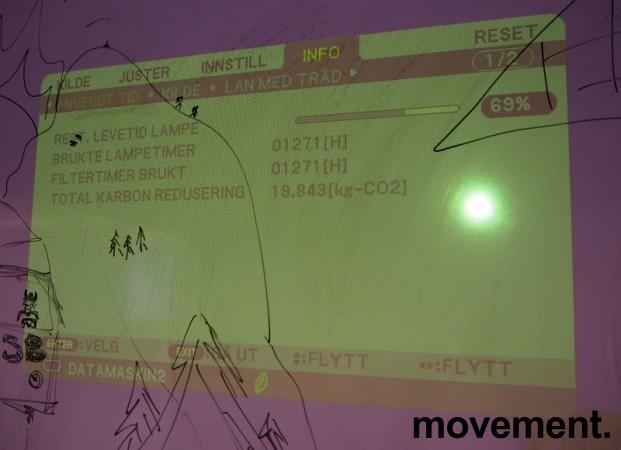 NEC Prosjektor M311W, 3100Lumen, HDMI, Widescreen 1280x800, pent brukt - 1271timer på pære! bilde 2