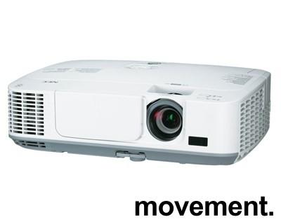 NEC Prosjektor M311W, 3100Lumen, HDMI, Widescreen 1280x800, pent brukt - 1271timer på pære! bilde 1