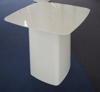 Loungebord i hvitt metall fra Vitra, Metal Side Table - str MEDIUM, R & E Bouroullec, pent brukt