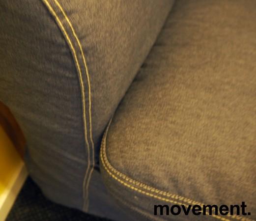 """Ikea Ektorp sofa 3seter, """"jeanstrekk"""", 218cm bredde, pent brukt bilde 2"""