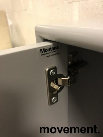 Montana-reol på hjul, Contract serie i grått, 2 dører, 81,6cm bredde, 113cm høyde, 39d, 3H, Slitasje! bilde 5