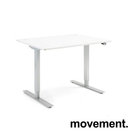 Skrivebord med elektrisk hevsenk fra AJ Produkter, Flexus 120x80cm, pent brukt utstillingsmodell