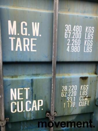 20fots container / lagercontainer, noe vanninnsig bilde 4