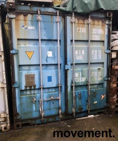 20fots container / lagercontainer, noe vanninnsig bilde 1