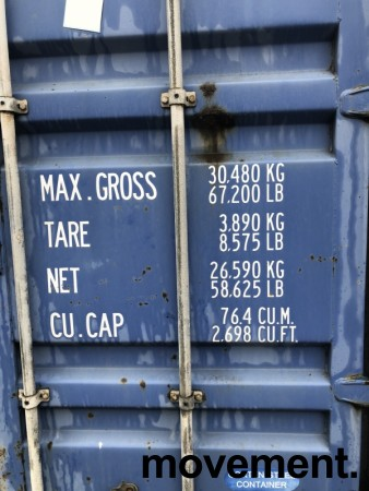 40fots HQ container / lagercontainer, lekkasje i taket bilde 2