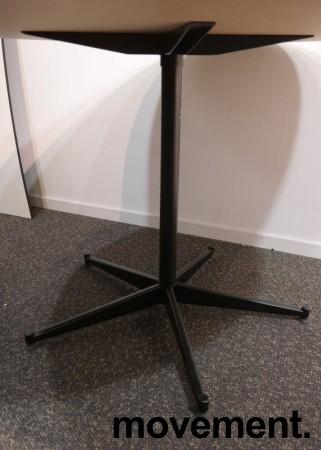 Rundt møtebord / konferansebord / kantinebord i hvitt / sort, Ø=120cm, pent brukt bilde 2