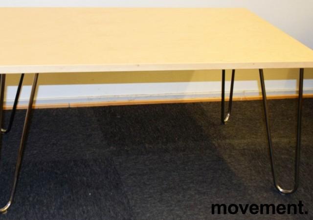 Loungebord / sofabord fra EFG i bjerk / krom, 100x62x50cm, Mongezi-serie, pent brukt bilde 1
