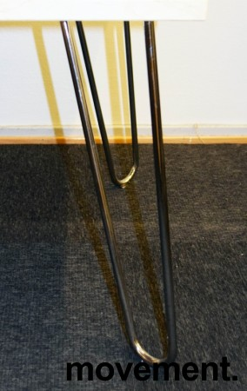 Loungebord / sofabord fra EFG i bjerk / krom, 100x62x50cm, Mongezi-serie, pent brukt bilde 3