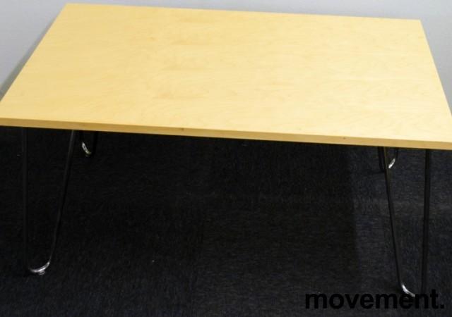 Loungebord / sofabord fra EFG i bjerk / krom, 100x62x50cm, Mongezi-serie, pent brukt bilde 2