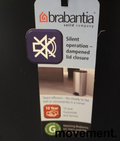 Brabantia pedalbøtte i sort, søppelbøtte høyde 67,5cm, pent brukt bilde 2