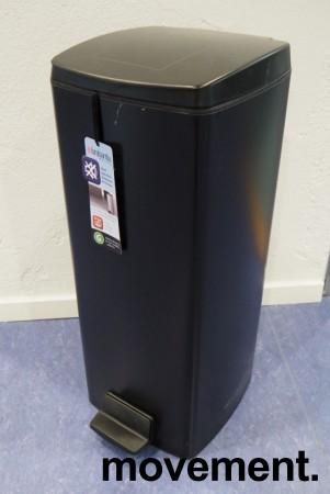 Brabantia pedalbøtte i sort, søppelbøtte høyde 67,5cm, pent brukt bilde 1