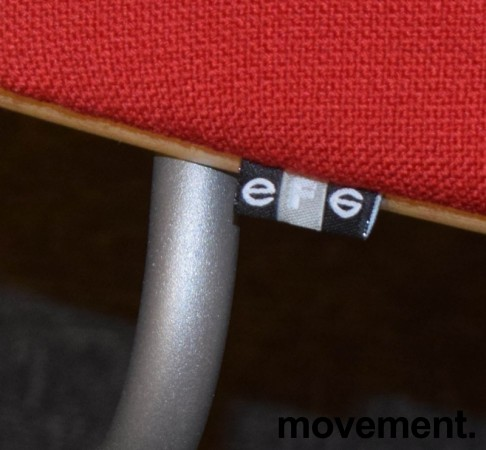 Konferansestol fra EFG i bjerk / rødt stoff / grå ben, modell GRAF, pent brukt bilde 3