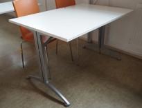 Kinnarps skrivebord / kantinebord i hvitt / grått, 120x80cm, pent brukt