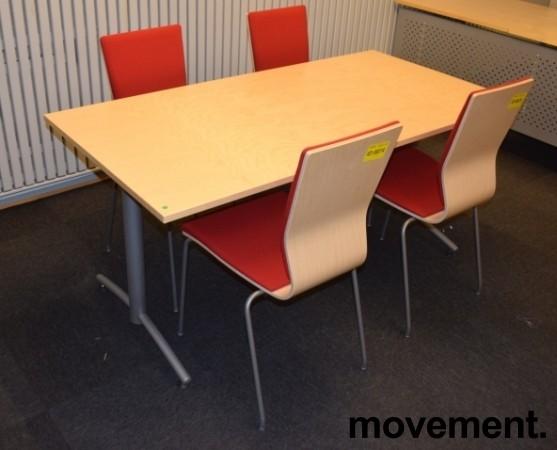 Kompakt møtebord fra EFG, 160x80cm, Avec-serie, Bjerk bordplate, passer 4 pers, 72cm h, pent brukt bilde 3