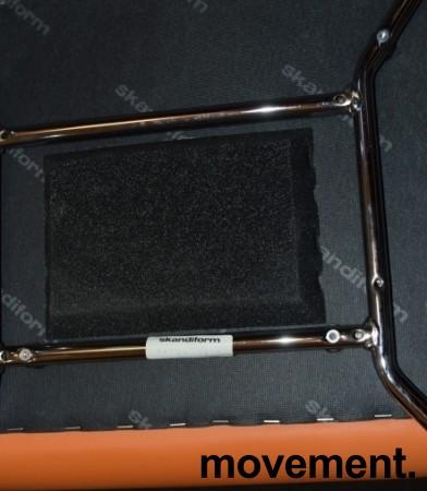Konferansestol fra Skandiform i orange skinn / krom, mod: Bombito High, pent brukt bilde 3