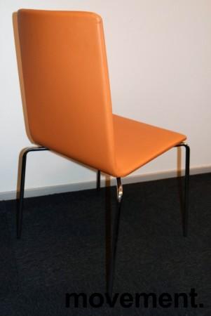 Konferansestol fra Skandiform i orange skinn / krom, mod: Bombito High, pent brukt bilde 2