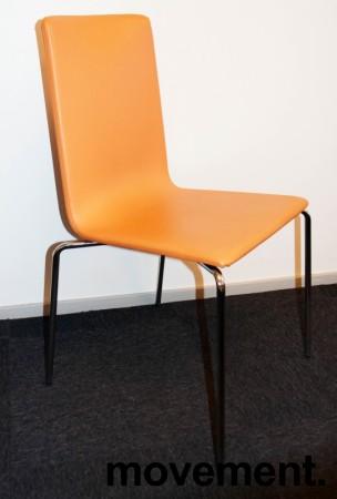 Konferansestol fra Skandiform i orange skinn / krom, mod: Bombito High, pent brukt bilde 1