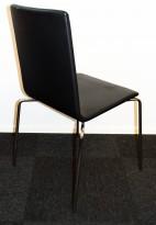 Konferansestol fra Skandiform i sort skinn / krom, mod: Bombito High, pent brukt