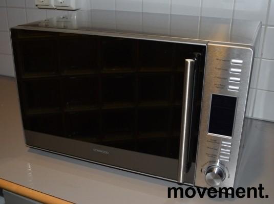 Kenwood mikrobølgeovn med varmluft, frittstående K30CSS14E, stål/sølvfarget, pent brukt bilde 2