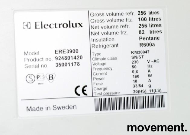 Kjøleskap / kombiskap fra Electrolux i hvitt, modell ERE3900, 200cm høyde, pent brukt bilde 2