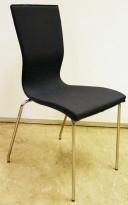 Konferansestol fra EFG/HovDokka i grått stoff / krom ben, modell GRAF, pent brukt