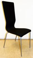 Konferansestol fra EFG HovDokka i sort gaja, grå ben, høy rygg. modell GRAF, pent brukt