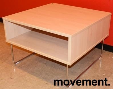 Sofabord / loungebord fra VAD i bjerk/krom, Pivot-serie, 64x64x43cm, pent brukt bilde 1