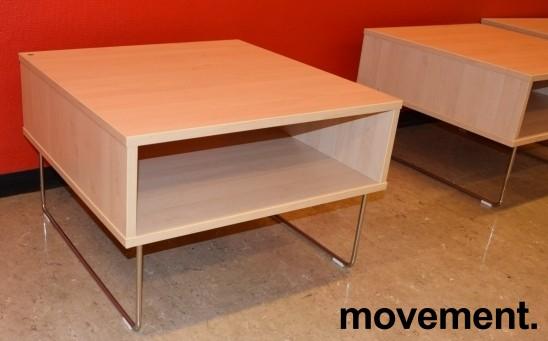 Sofabord / loungebord fra VAD i bjerk/krom, Pivot-serie, 64x64x43cm, pent brukt bilde 2
