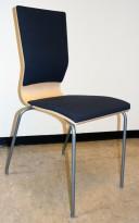 Konferansestol fra EFG i bjerk / grått stoff / grå ben, modell GRAF, pent brukt