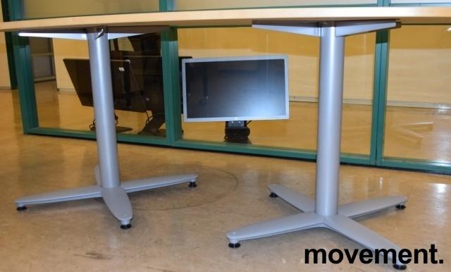 Kompakt møtebord i bjerk, Kinnarps T-serie, 180x90cm, passer 6personer, pent brukt bilde 3