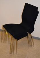 Konferansestol fra EFG/HovDokka i sort mikrofiberstoff / krom ben, modell GRAF, pent brukt